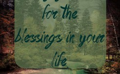 Blessings To Be Thankful For – 1st Edition